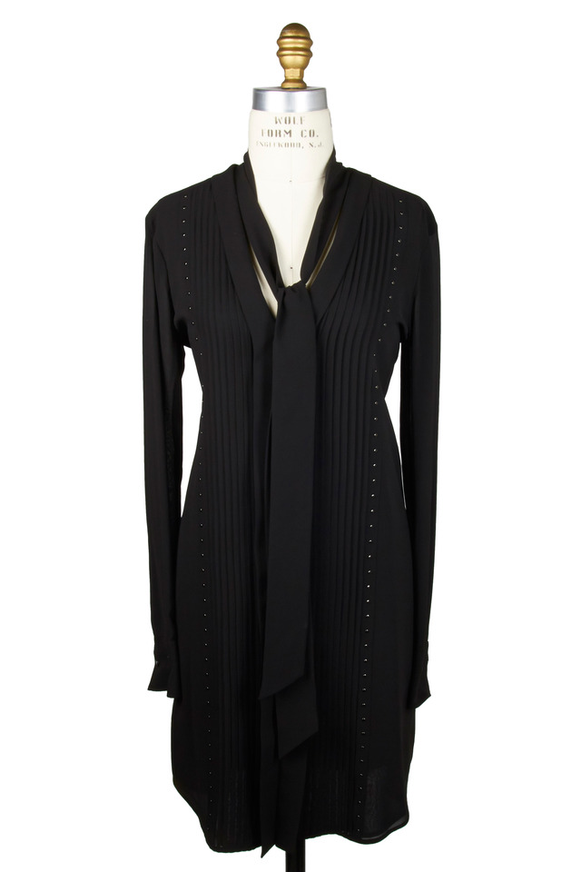 Wingham Black Silk Dress