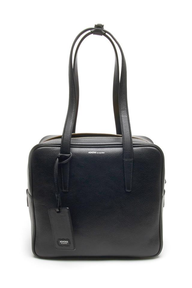 Black Leather Small Shoulder Bag