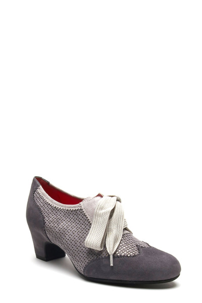 Pas de Rouge - Lucia G304 Gray Suede Oxford Pump, 50mm