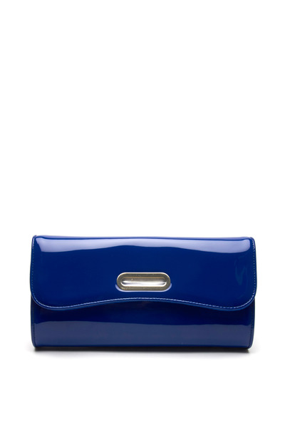 Christian Louboutin - Riveria Blue Patent Leather Flap Clutch