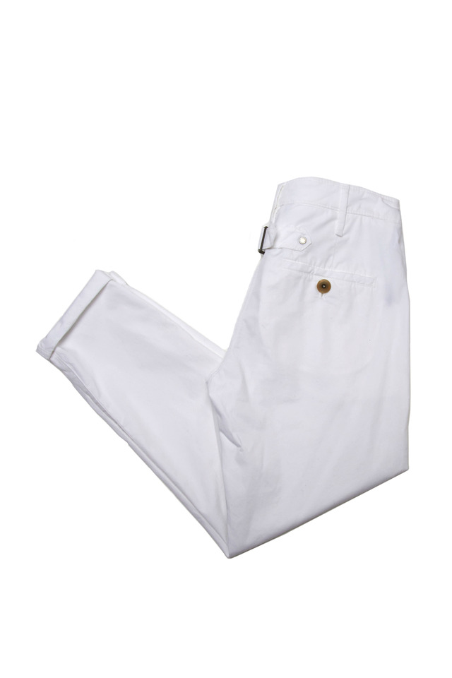 White Back Belt Pants
