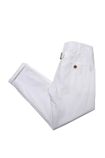 Brunello Cucinelli - White Back Belt Pants