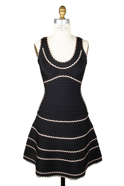 Herve Leger - Black & Beige Dress