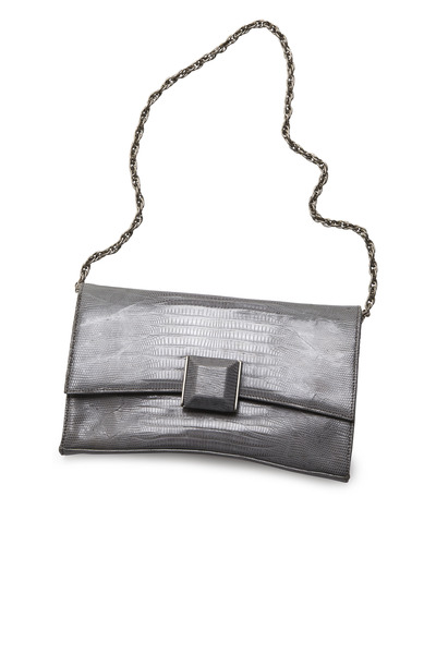 Daniella Ortiz - Veronica Grey Lizard Handbag
