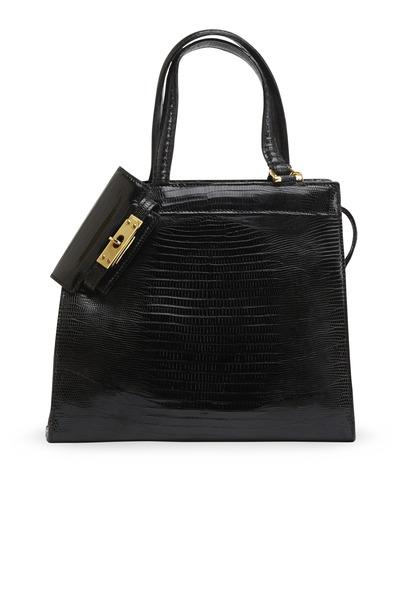 Daniella Ortiz - Isabella Black Lizard Handbag