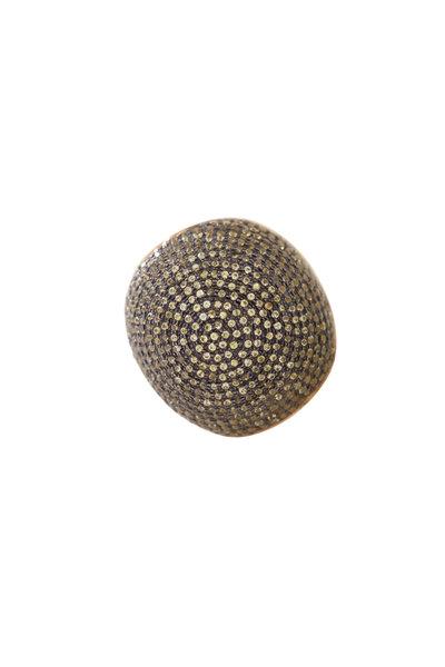 Loren Jewels - 18K Gold & Silver Pavé Sapphire Ring