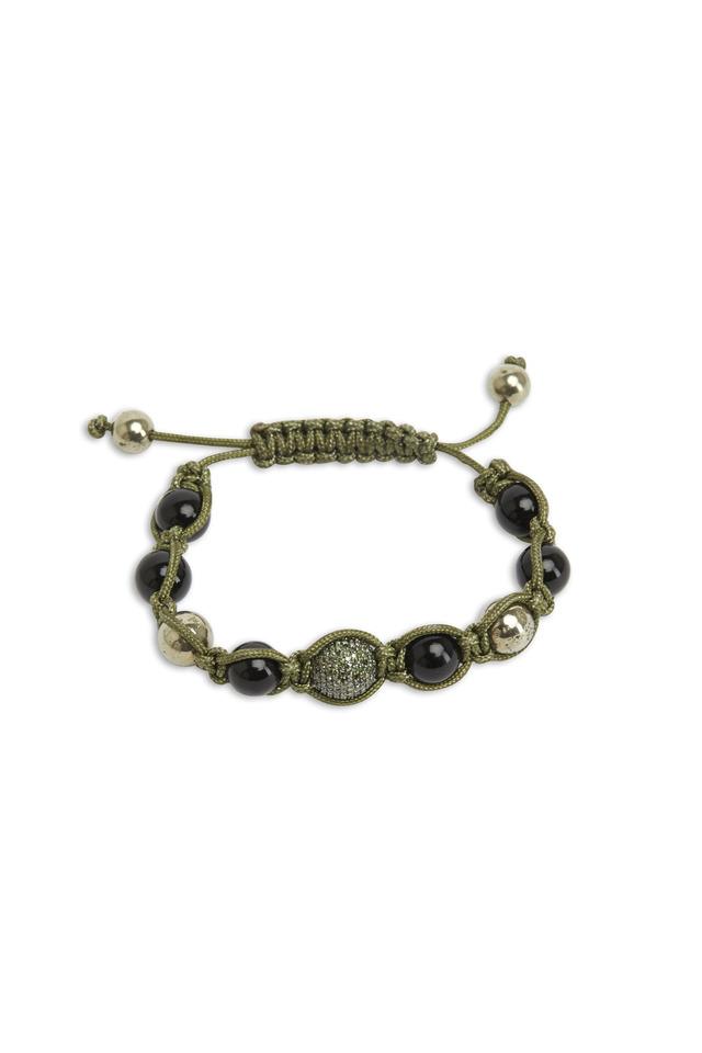 Gold Macrame Diamond Bracelet
