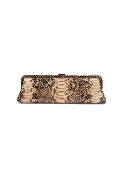 Michael Kors Collection - Nude Python Long Frame Clutch