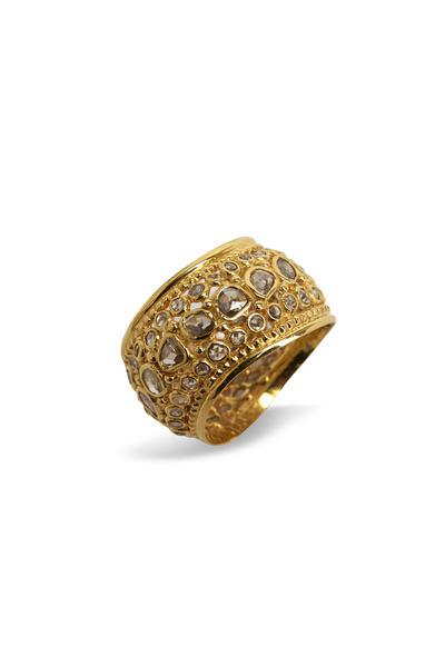 Loren Jewels - Gold Rose-Cut Diamond Wave Band