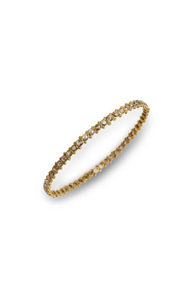 Thin Gold Diamond Bangle