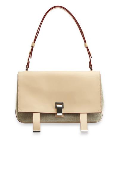 Proenza Schouler - PS Courier Natural Linen Shoulder Bag