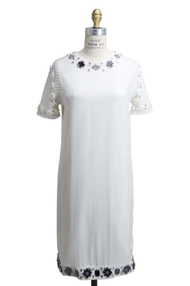 White Cotton Jersey Dress