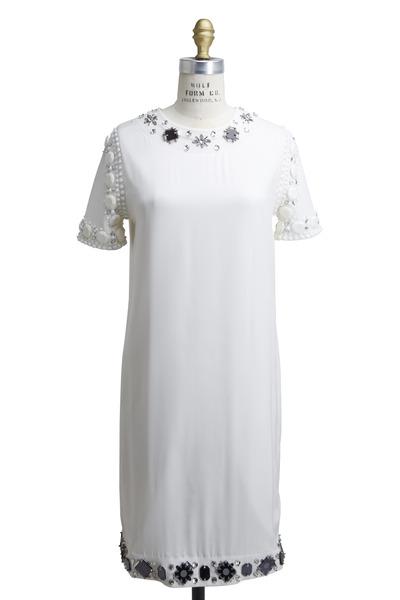 Lanvin - White Cotton Jersey Dress