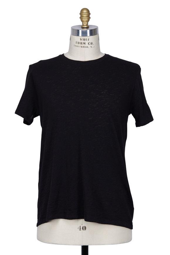 A T M Black Slub Jersey Short Sleeve T-Shirt