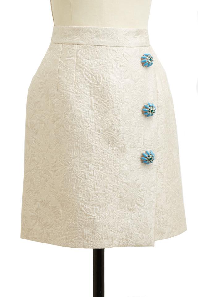 Ecru Jacquard Skirt