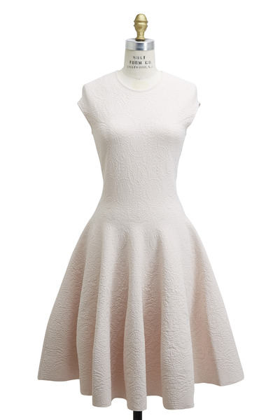 Alexander McQueen - Light Pink Jacquard Knit Dress