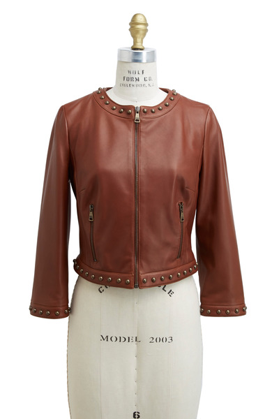 Dolce & Gabbana - Saddle Leather Stud Detail Jacket