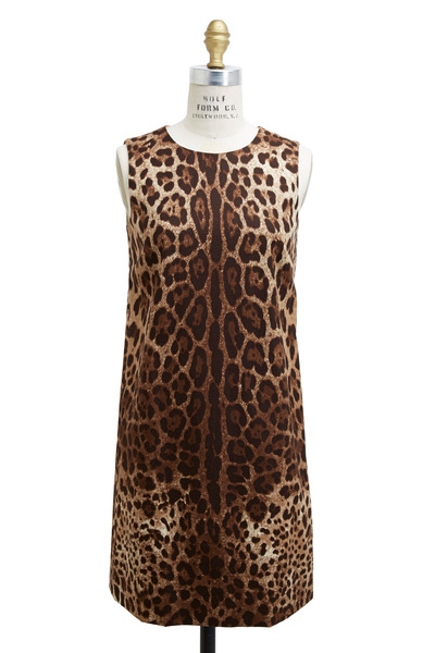Dolce & Gabbana - Leopard Print Shift Dress