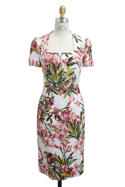 Dolce & Gabbana - Oleandro Viscose Floral Print Dress