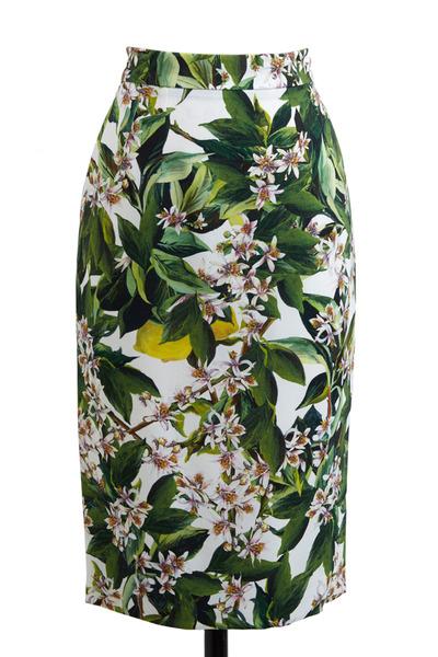 Dolce & Gabbana - Zagara Print Slim Skirt