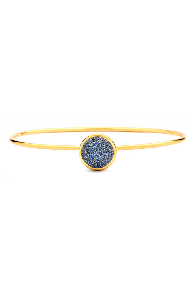 Baubles Yellow Gold Sapphire Stack Bracelet