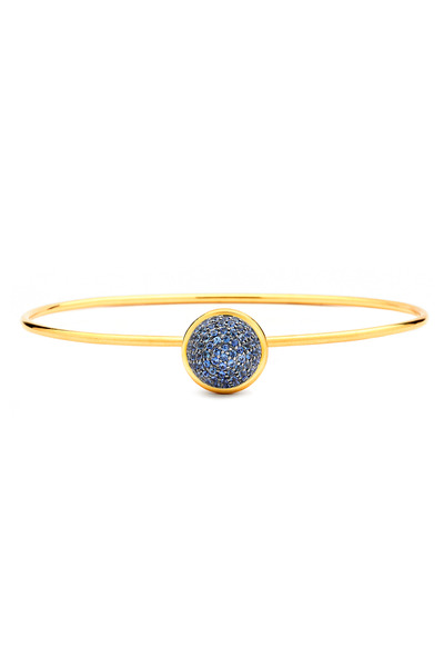 Syna - Baubles Yellow Gold Sapphire Stack Bracelet