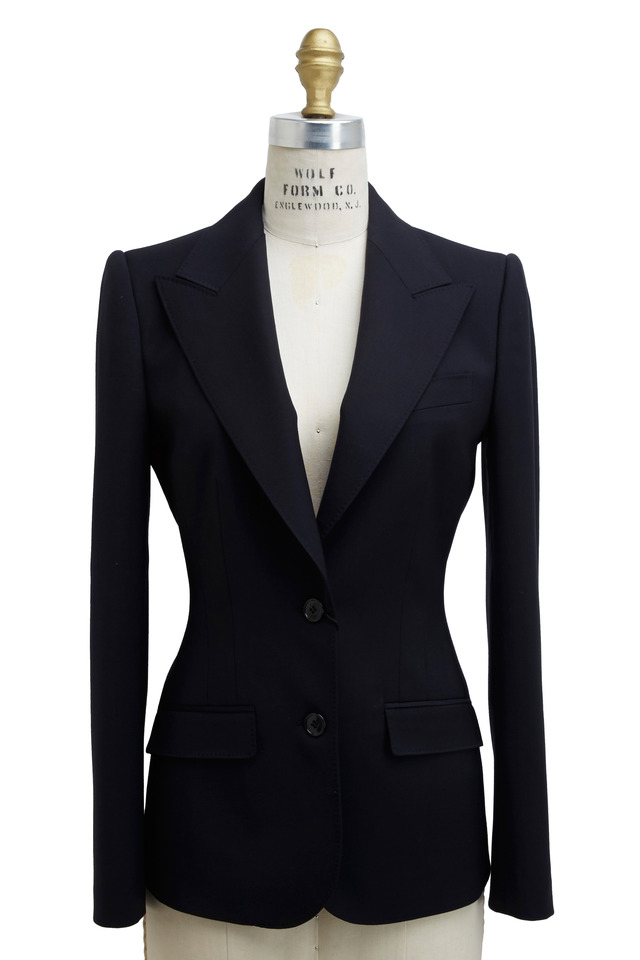 New Turlington Navy Blue Wool Jacket