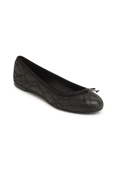 Saint Laurent - Dance Black Lace Ballet Flats