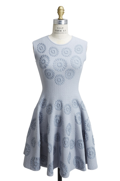 Alexander McQueen - Light Blue Cotton Dress