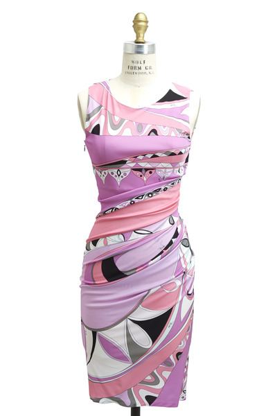 Pucci - Pink Viscose Tragara Dress