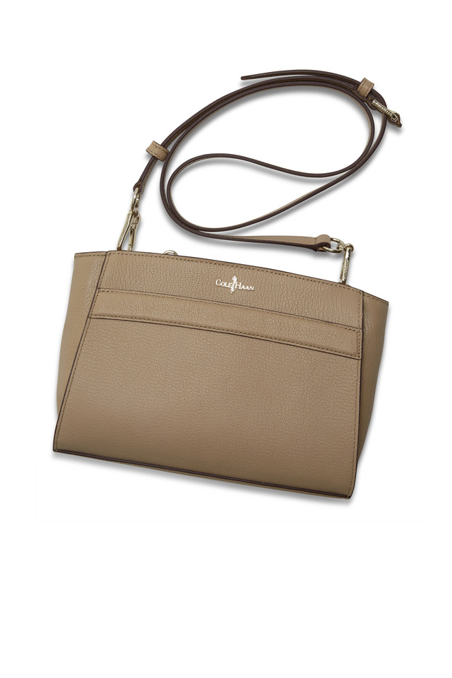 Berkely Sand Leather Crossbody Bag