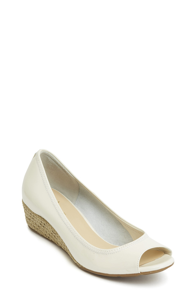 Air Tali Ivory Patent Leather Wedge, 40mm