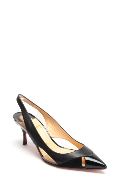 Christian Louboutin - Air Chance Black Cutout Slingbacks