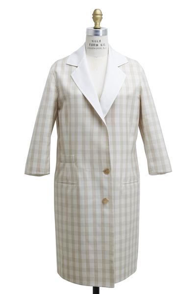 Agnona - Beige Cotton & Mohair Jacket