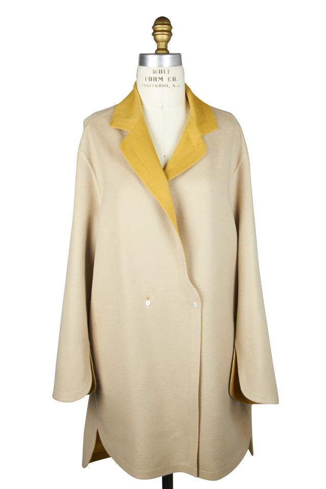 Cream & Yellow Cashmere Coat