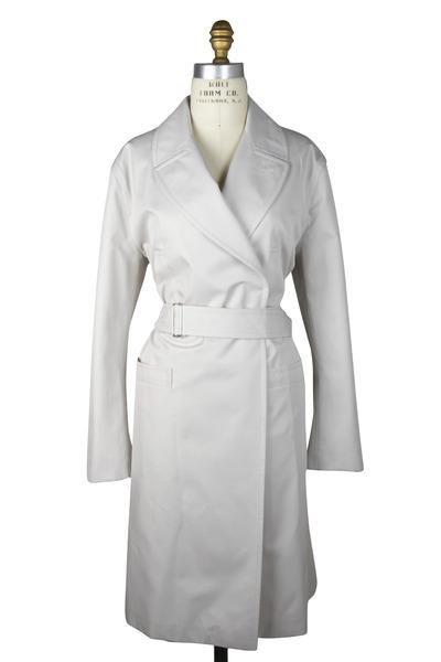 Agnona - Beige Silk & Cotton Coat