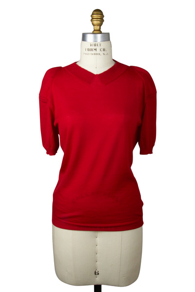 Agnona - Red Cashmere Sweater