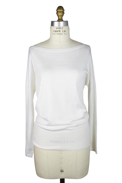 Agnona - White Cotton & Silk Sweater
