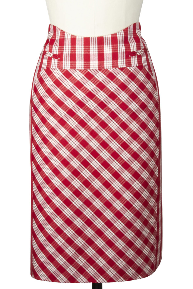Red Mohair Skirt
