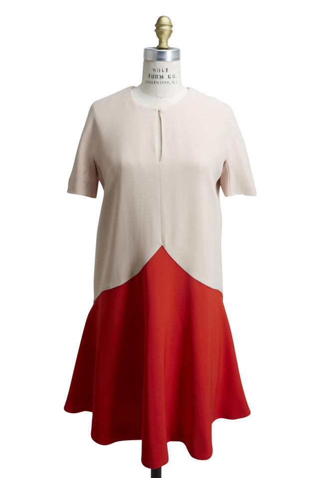 Pink & Red Rayon & Nylon Dress