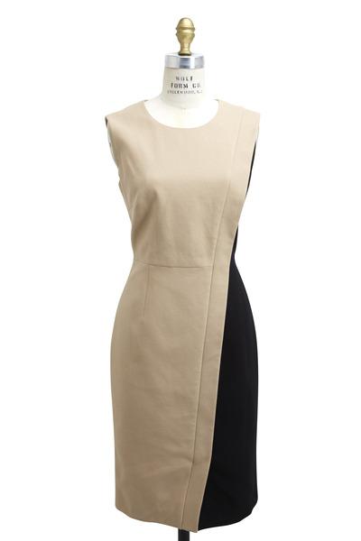 Paule Ka - Tan & Black Cotton Dress