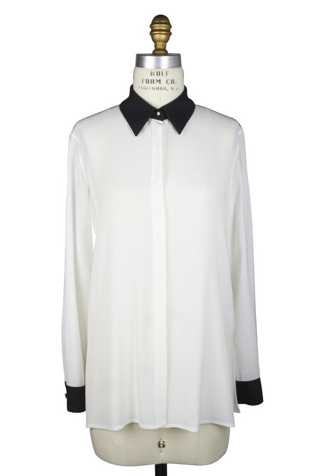 Charton Black & White Viscose Blouse