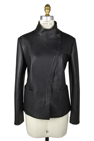 The Row - Jacton Black Leather Jacket