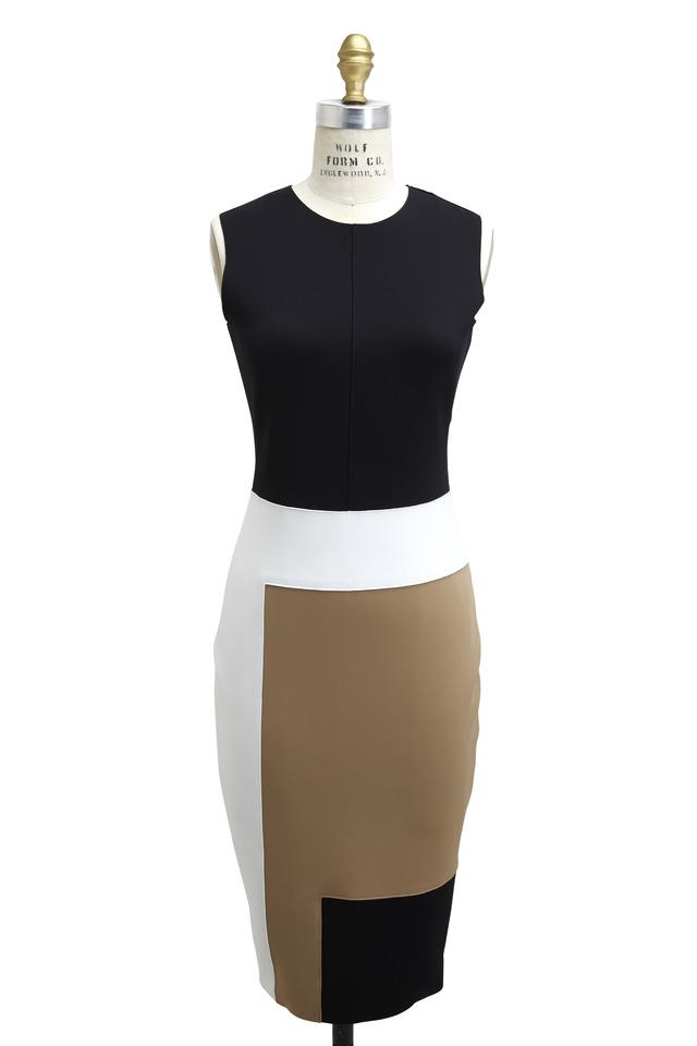 Colorblock Sleeveless Tech Dress
