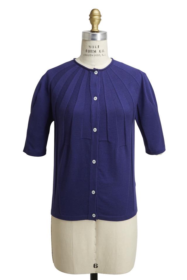 Royal Blue Cashmere & Silk Cardigan