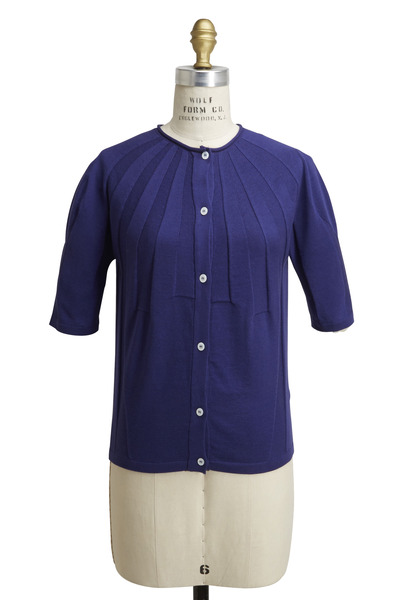 Agnona - Royal Blue Cashmere & Silk Cardigan