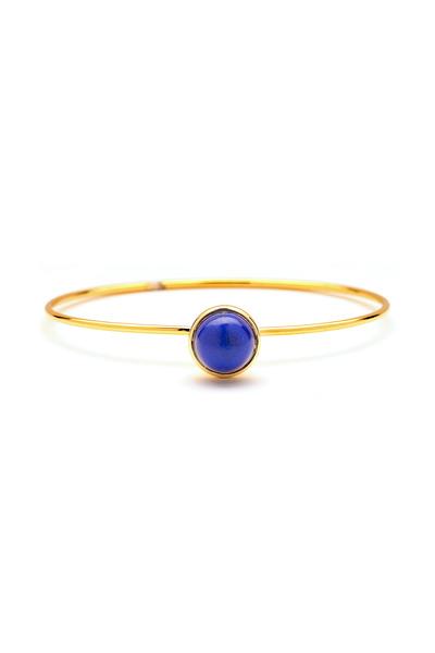 Syna - Lapiz Lazuli Stacking Baubles Bracelet, Large