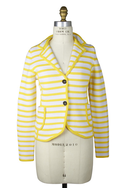 Bogner - Casandra Yellow & White Jacket