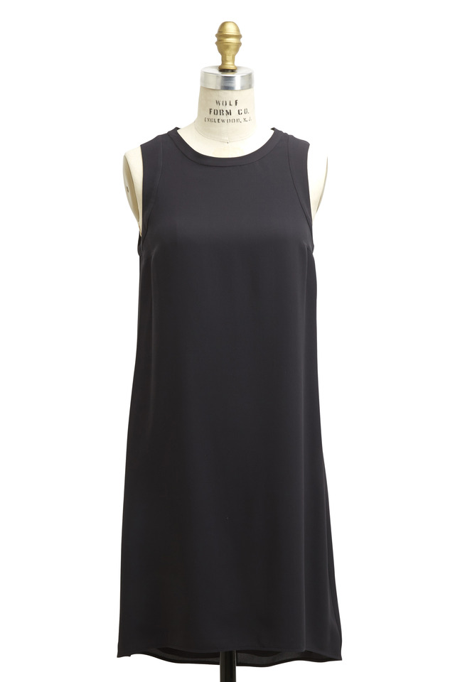 Black Silk Monili Dress