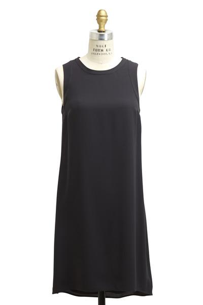 Brunello Cucinelli - Black Silk Monili Dress